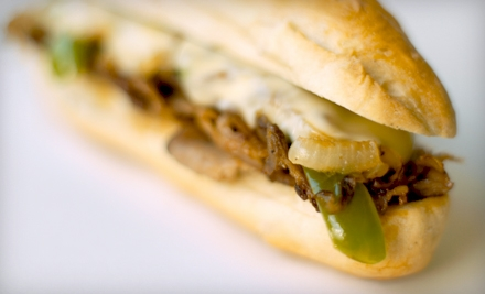 Regular Sandwich Combos for Two or $10 for $20 Worth of Sandwiches and Soups at Philly's Cheesesteaks and More