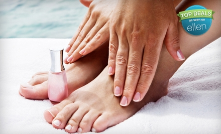 One or Three Shellac Manicures or a Shellac Mani-Pedi at Beyond Nails (Up to 59% Off)