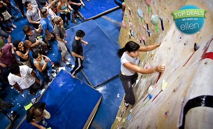 Three-Day or One-Month Climbing Package with Gear at Touchstone Climbing (Up to 59% Off). Four Locations Available.