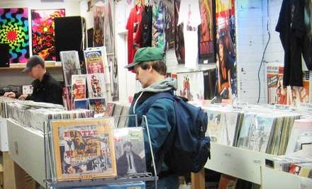 New and Used Vinyl Records, CDs, and Merchandise at BackTrack Records (Half Off). Two Options Available.