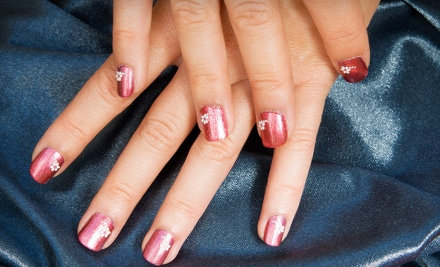 One or Three Shellac Manicures or One Shellac Mani-Pedi at Nails by Ashley @ Hideaway Salon (Up to 60% Off)