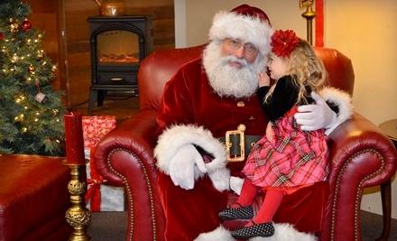 Photo Shoot with Santa Claus and One or Three Sheets of Photos at Santa's Christmas Den (Half Off)