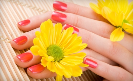 One or Two Spa Mani-Pedis or an OPI Gel No-Chip Mani-Pedi at Beauty at Hand in Gahanna (Up to 53% Off)