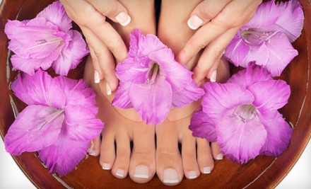 One or Two Basic or Shellac Mani-Pedis at Chenell's Natural Nails in Alpharetta (Up to 65% Off)