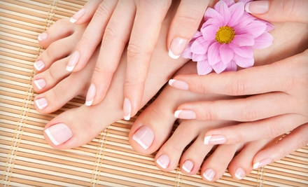 One, Two, or Three Mani-Pedis at Elles Salon in New Albany (Up to 53% Off)