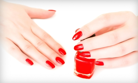 One Candy-Cane Pedicure or Two Shellac Manicures at Nail Design by Katie (Half Off)