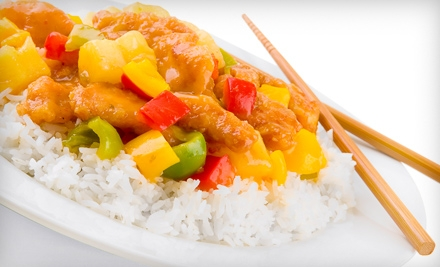$10 for $20 Worth of Chinese Cuisine at The Sizzling Wok at 60 Raley's, Bel Air, and Nob Hill Foods Locations