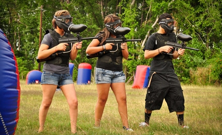 All-Day Paintball Package for Two, Four, or Eight with Paintballs and Equipment Rental at Got'cha Paintball (Up to 53% Off)