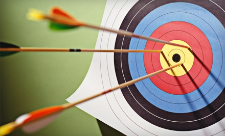 Three Drop-In Classes, Private Lesson for Two, or Two Private Lessons for One at No Limits Archery (Up to 56% Off)