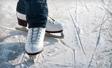 Ice-Skating Outing for Two or Four or One Beginner's Skating Lesson at Kent State University Ice Arena (Up to 63% Off)