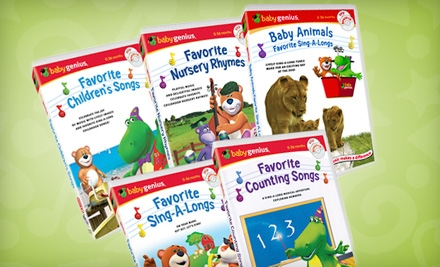 $25 for Five Educational Children's DVDs, Plus Five Bonus CDs, from Baby Genius