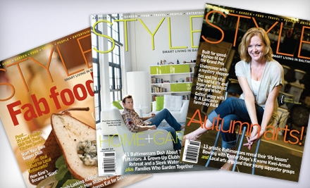 One or Two Year Subscription to Baltimore Style Magazine