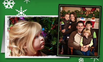 Holiday Photo-Card Package or Portrait Package at Studio V Photography (Up to 77% Off)