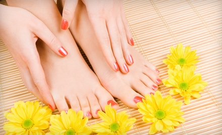 $26 for an Ultimate Spa Mani-Pedi at Heavenly Beauty Salon and Spa in Knightdale ($53 Value)