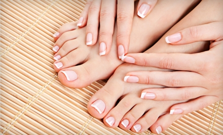 Manicure or Mani-Pedi at Cutoure Salon & Spa (Up to 55% Off)