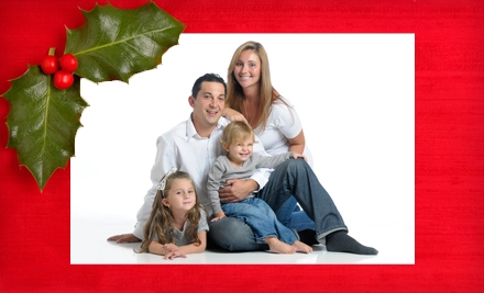 In-Studio Holiday Photo-Shoot Package with a CD, Prints, and Option for Cards at Flash House Studios (Up to 71% Off)