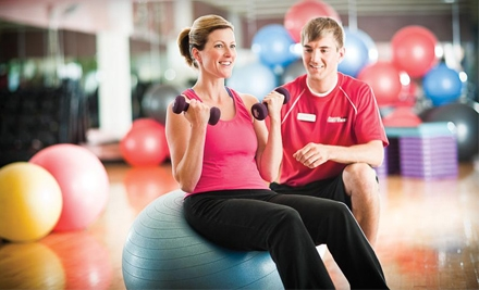 $19 for One-Month Gym Membership and a Personal-Trainer or Pilates Session at Prairie Life Fitness (Up to $135 Value)
