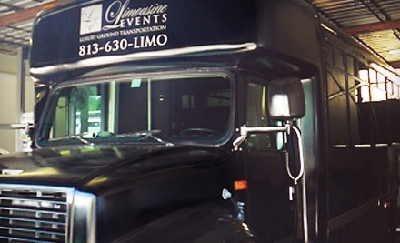 Three- or Four-Hour Party-Bus Rental from Limousine Events (Half Off)