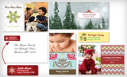 Holiday-Card Package with Set of 30 or 50 Custom Holiday Cards with Return-Address Labels and Included Shipping from Vistaprint (Up to 81% Off)