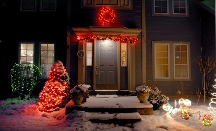 Holiday-Light Installation from Oklahoma City Christmas Lights (Up to 56% Off). Two Options Available.