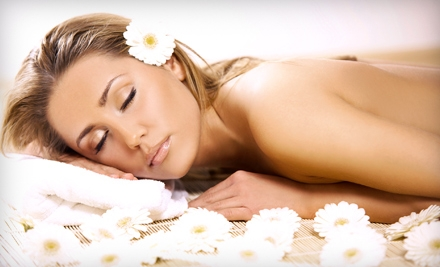 Choice of Massage or Facial or a Holiday Spa Package at The Hair Color Salon & Spa in Lawrenceville (Up to 66% Off)