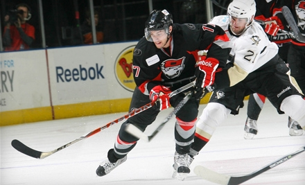 Two Tickets to See the Charlotte Checkers at Time Warner Cable Arena on December 3 or December 4. Four Options Available.