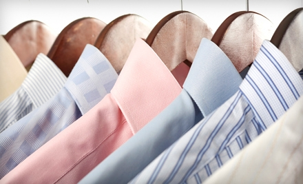 Dry-Cleaning Services with Pickup and Delivery from Pressed4Time (Half Off). Two Options Available.