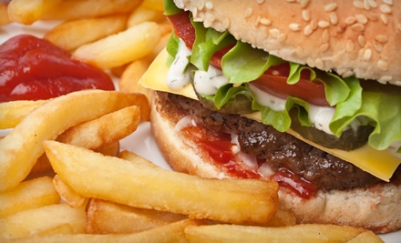 Burger Meal with Fries and Drinks for Two, Four, or Six at Jewel Lake Tastee Freez (Up to 60% Off)