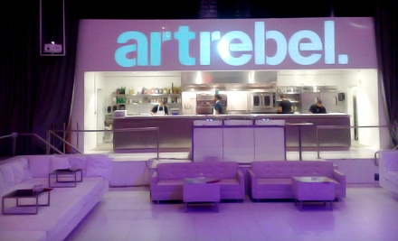 $129 for Underground Dining and Art Experience for Two with Two Complimentary Drinks at Art Rebel ($375 Value)