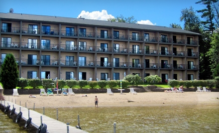 One- or Two-Night Stay in a Jacuzzi Room at Beachfront Hotel in Houghton Lake (Up to 57% Off)