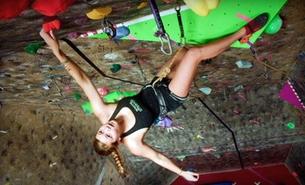 Rock-Climbing Package or Rock-Climbing Package with One-Month Membership at Rocks & Ropes (Up to 52% Off)