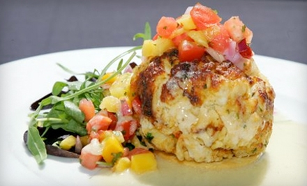 Lunch or Dinner for Two at Crab Cake Factory in Jacksonville Beach (Up to 57% Off)