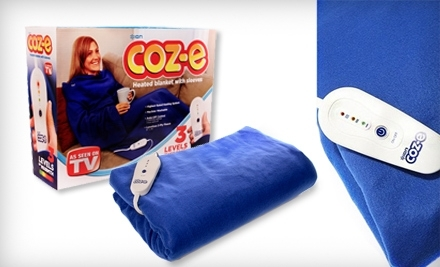 $19 for a Coz-e Electric Heated Fleece Blanket with Sleeves from Closeout America.com (Up to $59.99 Value). Valid in Contiguous U.S. Only.