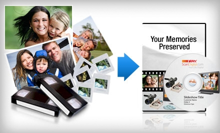 $40 for $100 Worth of Photo and Video Digitization Services from ScanDigital